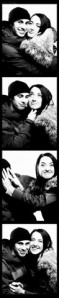 Photo Booth Strip of Young Couple