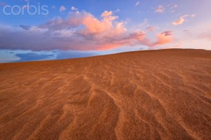 Sand dune and clouds during sunset, Christmas Valley, Oregon, USA
