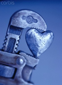Close-Up of Pipe Wrench with Heart