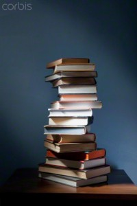 10 Jun 2009 --- USA, New York State, Stack of books on night table --- Image by © CI2/Cavan Images/Corbis