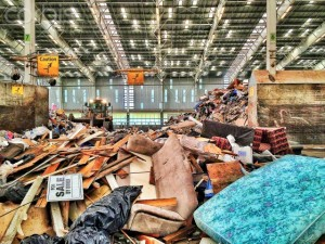 12 Sep 2014 --- Trash pile at dump transfer station --- Image by © Adam Crowley/Blend Images/Corbis