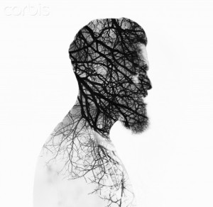 09 May 2013 --- Double exposure portrait of a bearded guy and tree --- Image by © Sfio Cracho/Corbis