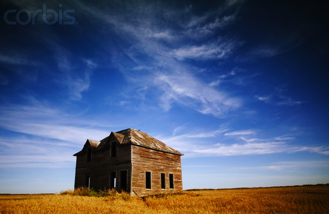 Abandoned House in Field