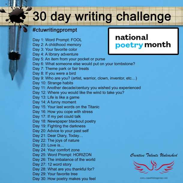 creative writing challenge My 500 words is a 31-day challenge designed to help you develop a daily writing habit and become a better writer.