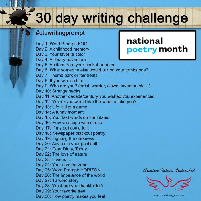 CTU writing challenge April 2016